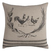Rizzy Home Rooster Throw Pillow