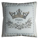 "Rizzy Home ""Paris"" Crown Throw Pillow"