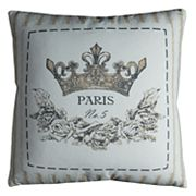 Rizzy Home 'Paris' Crown Throw Pillow