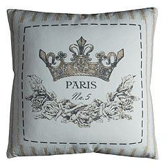 Rizzy Home 'Paris' Crown Throw Pillow