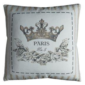 "Rizzy Home ""Paris"" Crown Throw Pillow"