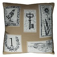 Rizzy Home Vintage Script Throw Pillow
