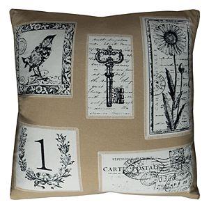 Rizzy Home Vintage Script Throw Pillow