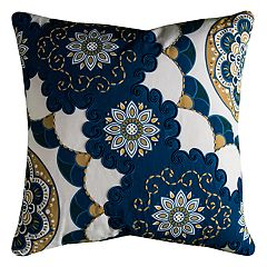 Rizzy Home Flower Medallions Throw Pillow