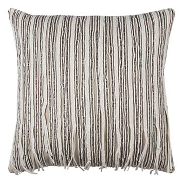 Rizzy Home Embellished Stripes Throw Pillow