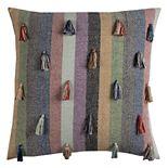 Rizzy Home Geometric Tassel Throw Pillow
