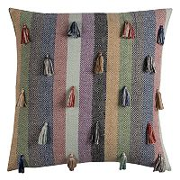 Rizzy Home Geometric Tassel Throw Pillow
