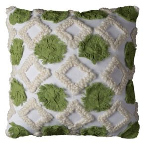 Rizzy Home Textured Geometric Throw Pillow