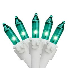 100 Teal Green Indoor / Outdoor Mini Christmas Lights