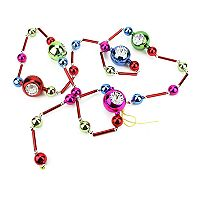 Northlight 81 in Retro Glass Bead Ornament Christmas Garland