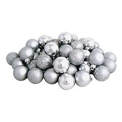 Northlight Shatterproof Silver Finish Ball Christmas Ornament 96-piece Set