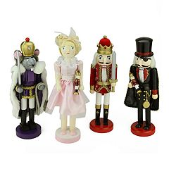 Northlight Nutcracker Ballet Christmas Decor 4-piece Set
