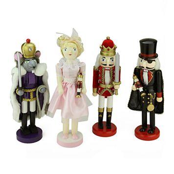 Northlight Nutcracker Ballet Christmas Decor 4-piece Set