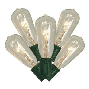 10 Transparent Clear Indoor / Outdoor Edison Bulb Christmas Lights