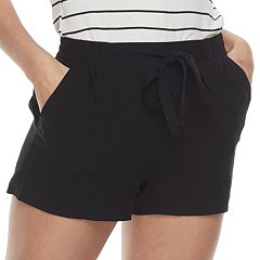 Juniors' Joe B Tie Front Soft Shorts