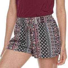 Juniors' Joe B Print Soft Shorts