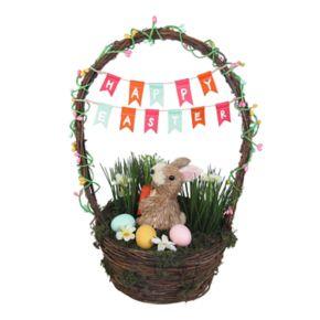 Celebrate Easter Together Sisal Bunny Basket Decor