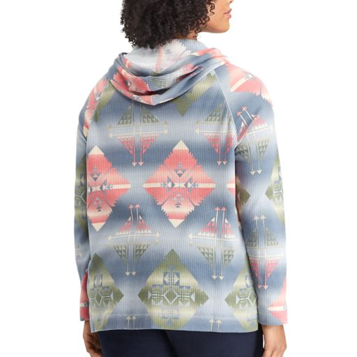 Plus Size Chaps Printed Hoodie