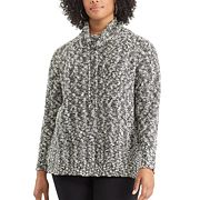 Plus Size Chaps Marled Funnel Neck Sweater