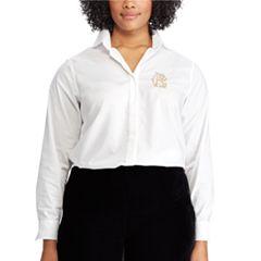 Plus Size Chaps Broadcloth No Iron Shirt