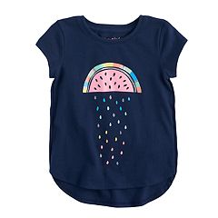 Toddler Girl Jumping Beans® Tulip Hem Glitter Graphic Tee