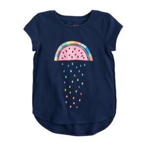 Toddler Girl Jumping Beans® Tulip Hem Glitter Graphic Tee