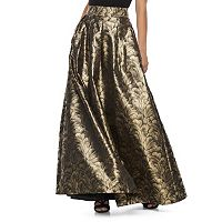 Women's Jessica Howard Pleated Metallic Ball Gown Skirt