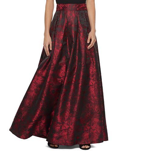 Women's Jessica Howard Pleated Metallic Ball Gown Skirt