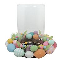 Celebrate Easter Together Artificial Egg Hurricane Candle Holder