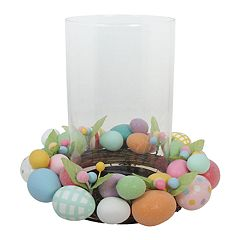 Celebrate Easter Together Artificial Egg Hurricane Candle Holder