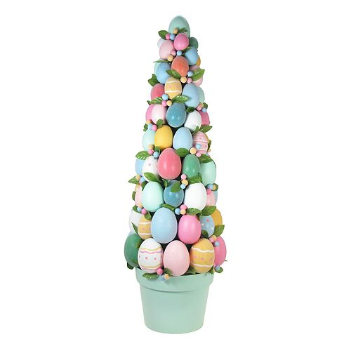 Celebrate Easter Together Artificial Egg Topiary Outdoor Decor