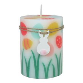 """Celebrate Easter Together Peach Fizz 3"""" x 4"""" Pillar Candle"""