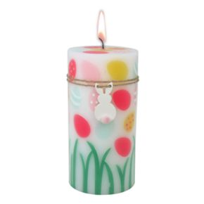 "Celebrate Easter Together Peach Fizz 3"" x 6"" Pillar Candle"