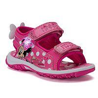 Disney Minnie Mouse Toddler Girls' Light-Up Sandals