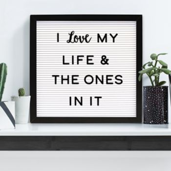 """New View 12"""" x 12"""" Letter Board Wall Decor 203-piece Set"""