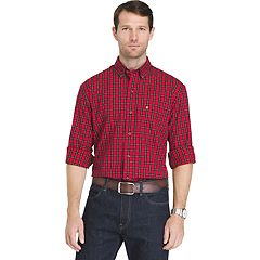 Big & Tall Men's IZOD Regular-Fit Tartan Plaid Button-Down Shirt