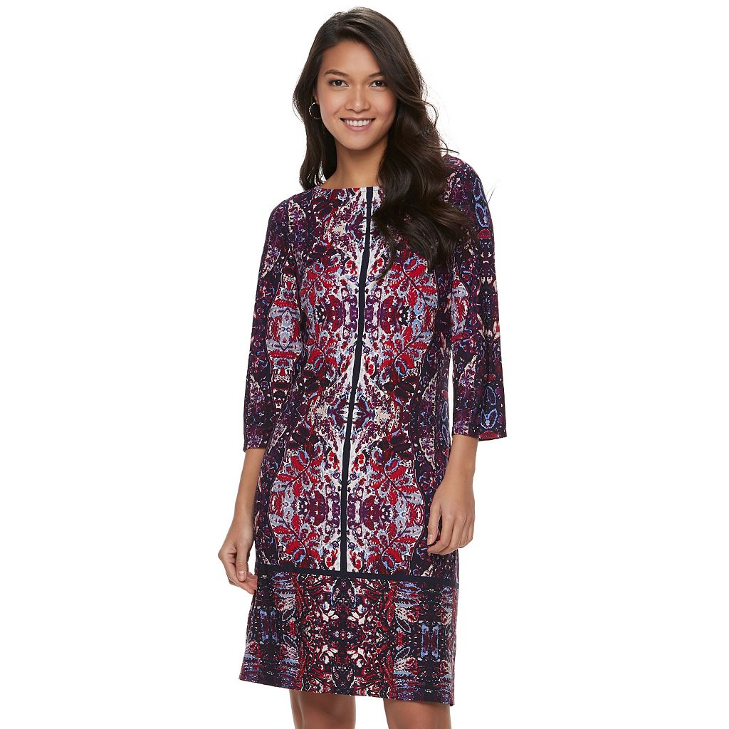 Women's Suite 7 Printed Shift Dress