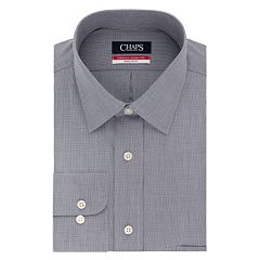 Big & Tall Chaps Essentials Regular-Fit Microcheck Wrinkle-Free Stretch Collar Dress Shirt