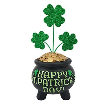 Celebrate St. Patrick's Day Together Four-Leaf Clover Table Decor