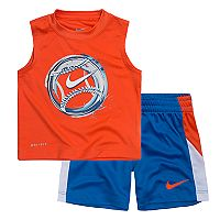 Toddler Boy Nike Baseball Logo Muscle Tee & Shorts Set