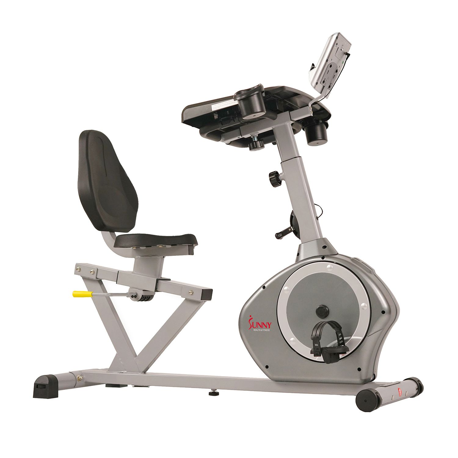 sunny health u0026 fitness desk recumbent exercise bike