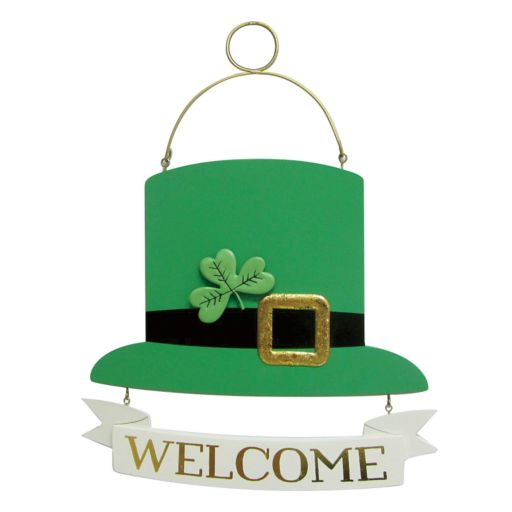 """Celebrate St. Patrick's Day Together Shamrock """"Welcome"""" Wall Decor"""