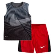 Toddler Boy Nike Performance Abstract Muscle Tee & Shorts Set