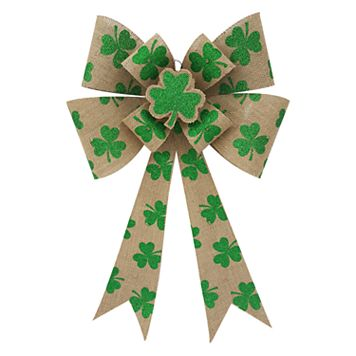 Celebrate St. Patrick's Day Together Light-Up Bow Wall Decor