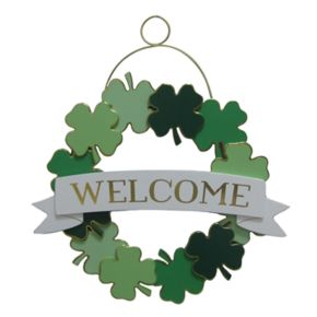 """Celebrate St. Patrick's Day Together """"Welcome"""" Wall Decor"""
