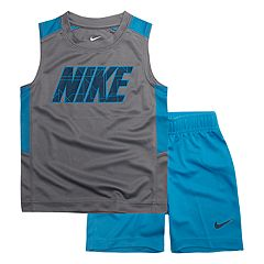 Toddler Boy Nike Logo Muscle Tee & Shorts Set