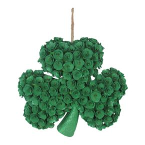Celebrate St. Patrick's Day Together Shamrock Wood Curl Wall Decor
