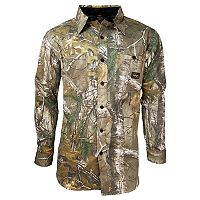Big & Tall Walls Hunting Cape Back Long Sleeve Shirt