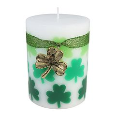 Celebrate St. Patrick's Day Together Celtic Moss 3' x 4' Pillar Candle