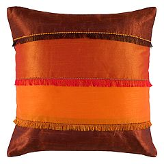 Rizzy Home Color Blocked Stripes Pieced Throw Pillow
